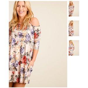 Cold shoulder floral dress 🌷☀️